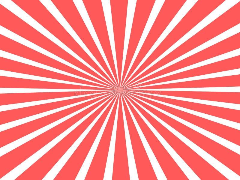 Beau concept de fond pour le cirque avec les rubans circulaires rouges illustration de vecteur