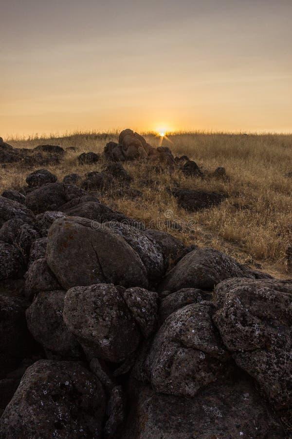 Beau coucher du soleil à la sierra vue image libre de droits