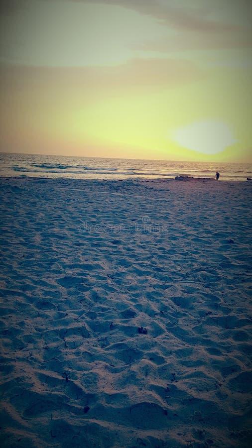 Beau coucher du soleil de la Floride images stock