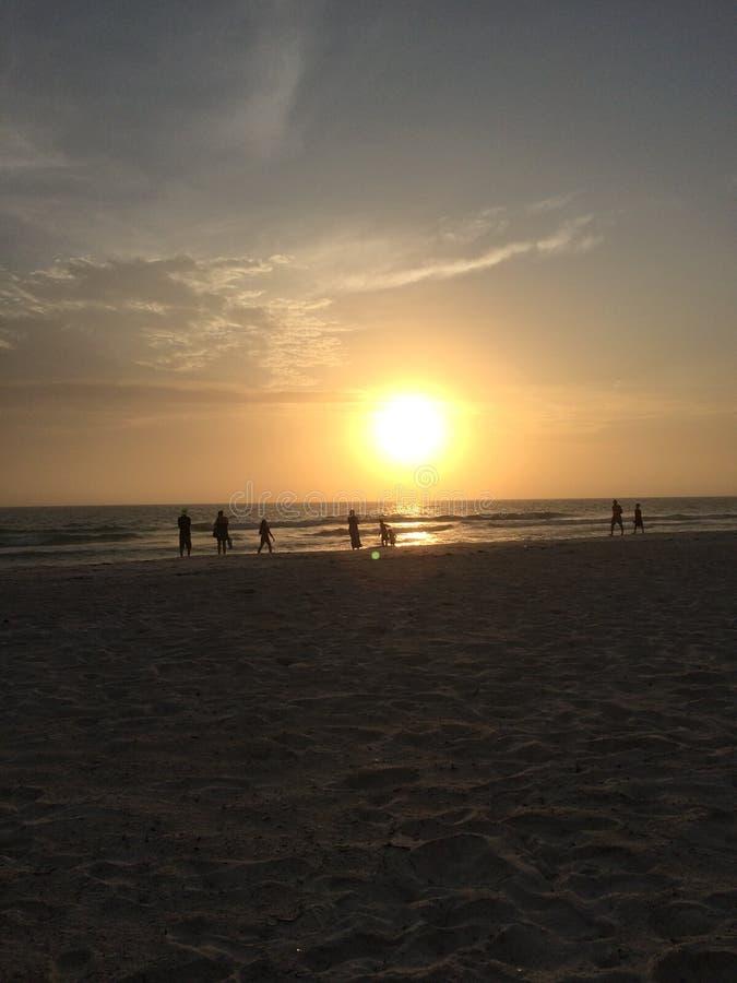Beau coucher du soleil de la Floride photos libres de droits