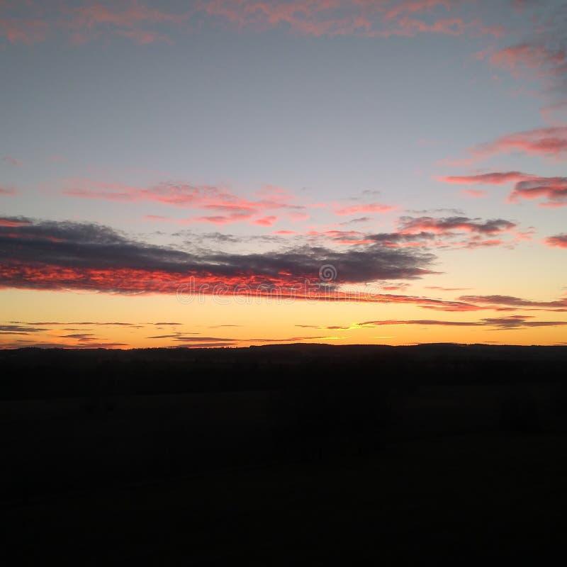 Beau coucher du soleil tchèque images libres de droits