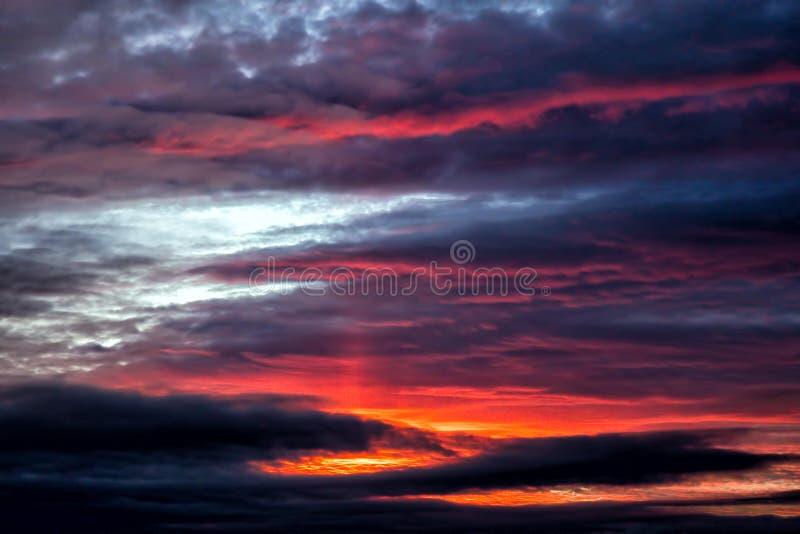 Beau coucher du soleil, Worcestershire, Angleterre photo libre de droits