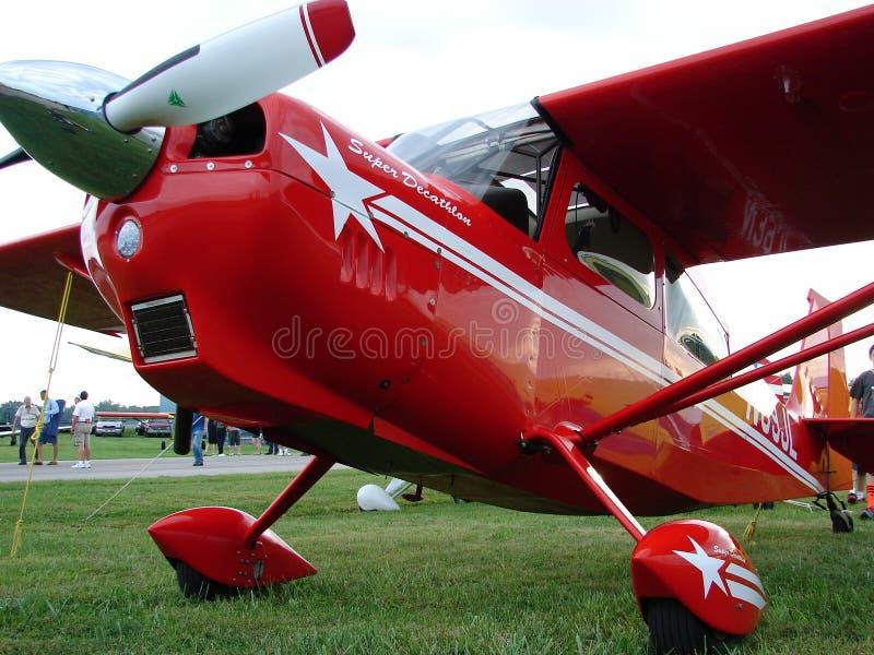 Beau 2012 décathlon superbe américain acrobatique aérien des avions 8KCAB de champion images stock
