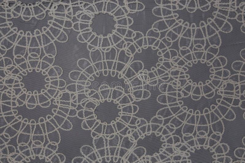 Beau détail de tissu de dentelle avec le fond de texture de textile photographie stock