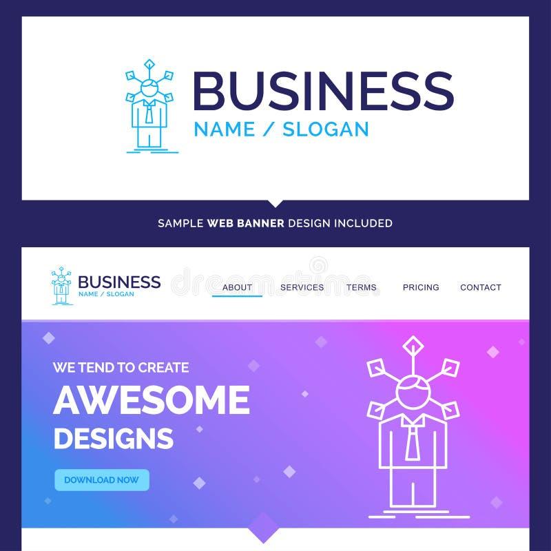 Beau développement de marque de concept d'affaires, humain, networ illustration libre de droits