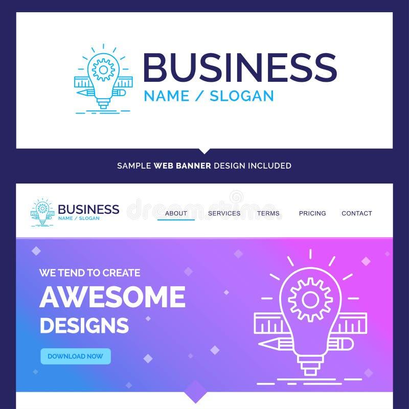 Beau développement de marque de concept d'affaires, idée, ampoule, p illustration de vecteur