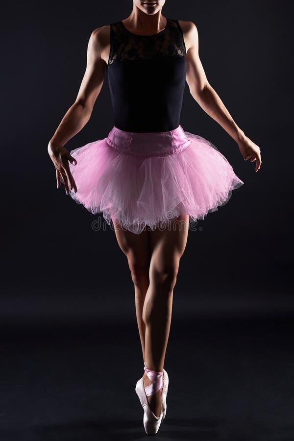 Beau danseur de ballet féminin Femme de danse images libres de droits