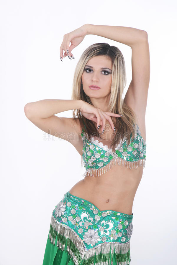 Beau danseur de ventre arabe image libre de droits