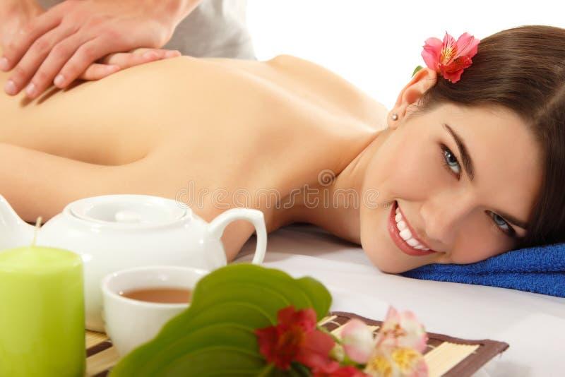 Beau de femme de massage jeune images libres de droits