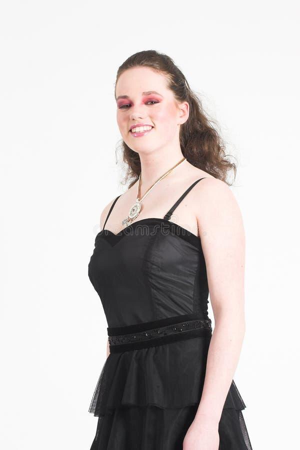 Beau de l'adolescence dans la robe de réception photographie stock
