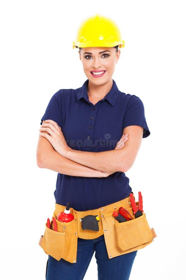 Entrepreneur de construction femelle images libres de droits