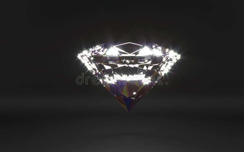 Beau diamant brillant, fond noir brillant Diamants clairs ou transparents, tir en gros plan Bijoux brillants image libre de droits