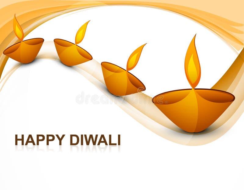 Beau diya religieux coloré de Diwali de décoration
