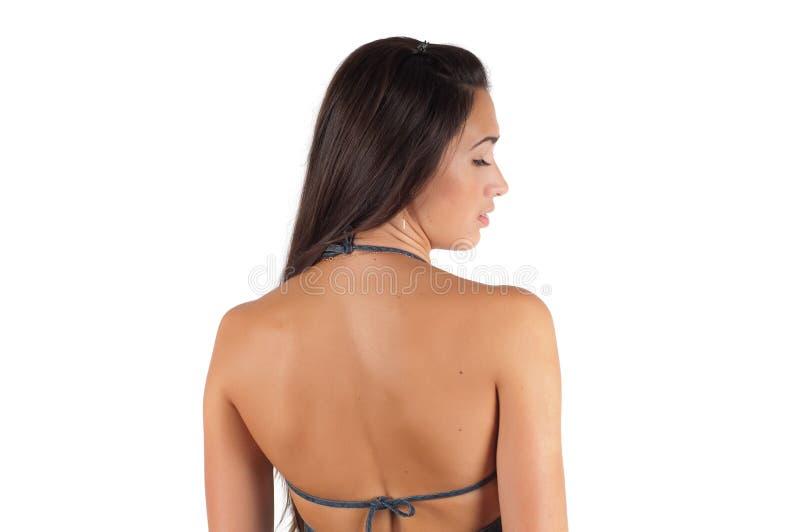 Beau dos nu de femme photographie stock