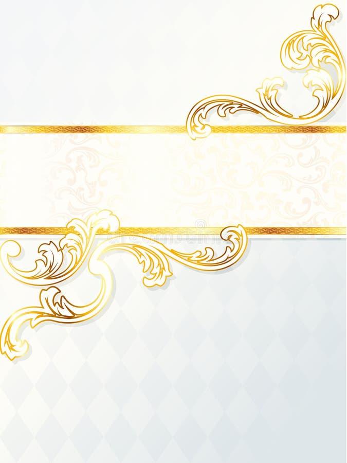 Beau drapeau rococo vertical de mariage illustration de vecteur