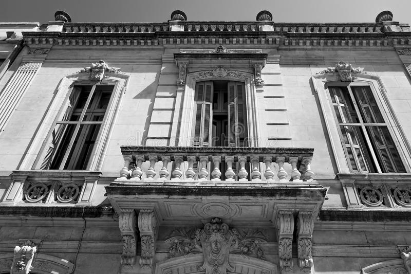 Beau fasade en Provence, France images stock