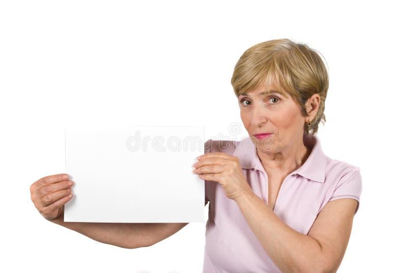 beau femme âgé de page blanc photographie stock