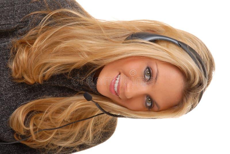 Beau femme blond au téléphone images libres de droits