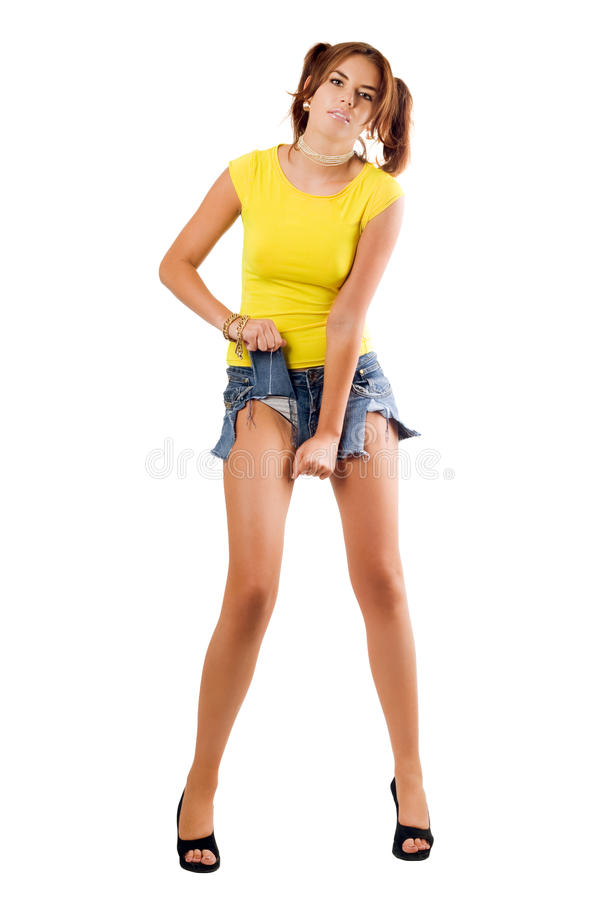 Beau femme rending ses circuits images stock