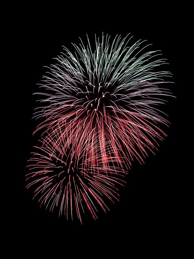Beau feu d'artifice photo stock