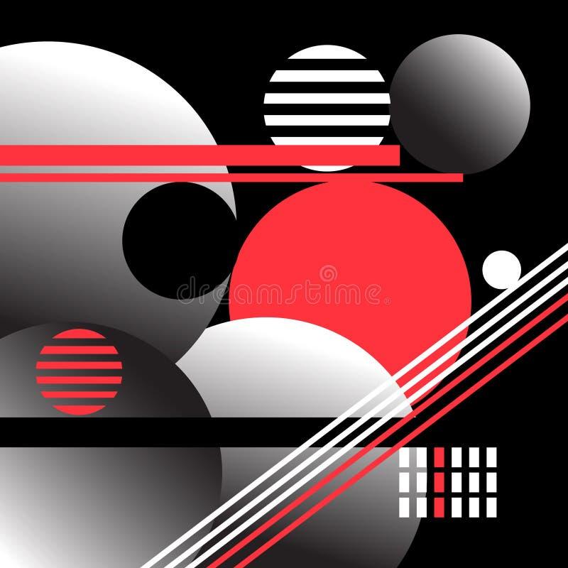Beau fond abstrait de vecteur de différents objets géométriques illustration stock