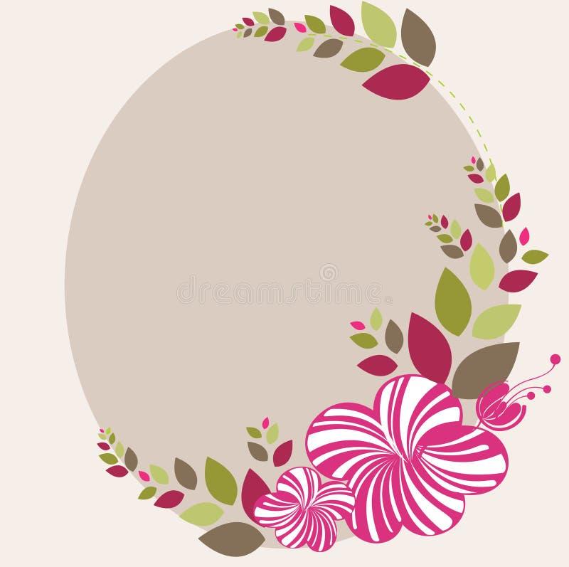 Beau fond abstrait floral dans doucement le rose illustration libre de droits