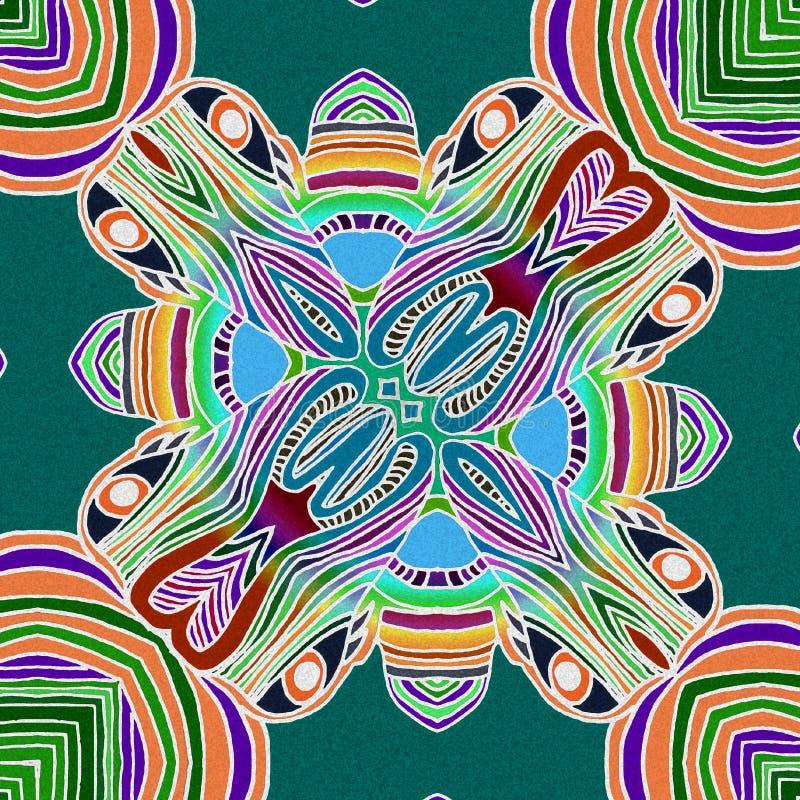 Beau fond avec des couleurs tropicales illustration libre de droits