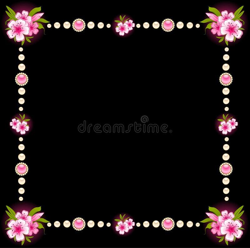 Beau fond avec des fleurs illustration stock
