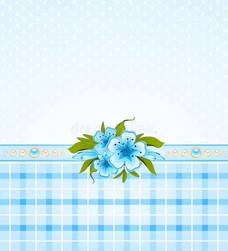 Beau fond avec des fleurs illustration de vecteur