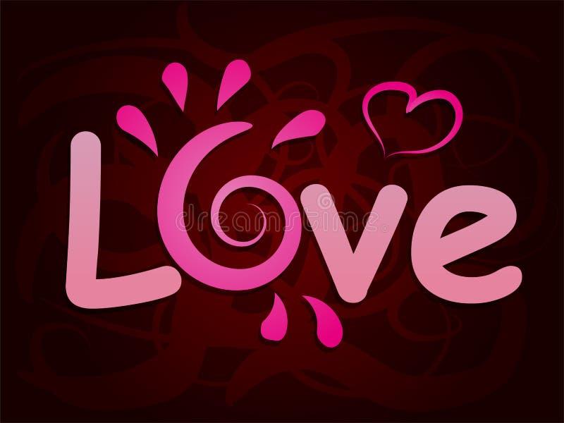 Beau fond avec la lettre d'amour Au festin du jour de valentines de St illustration stock