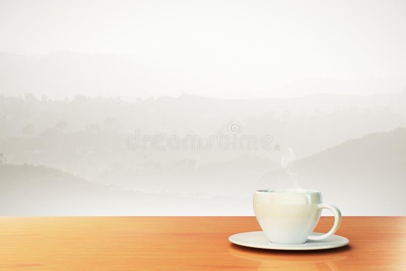 Beau fond avec la tasse de café et endroit pour votre texte images libres de droits