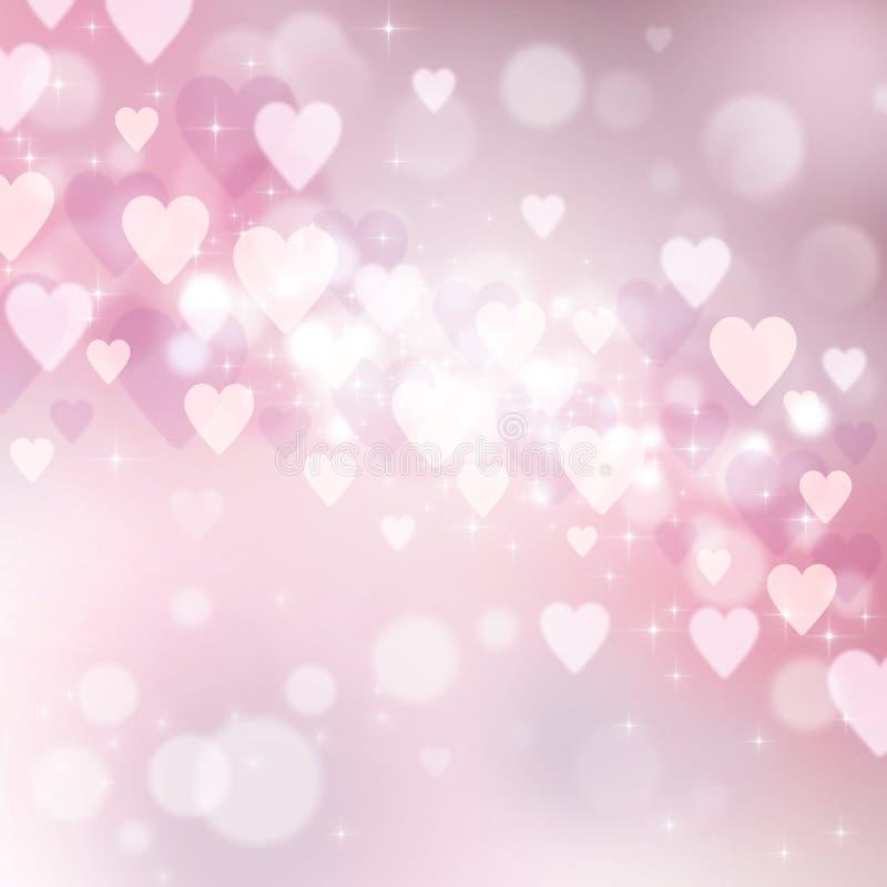 Beau fond clair au jour de Valentine illustration de vecteur