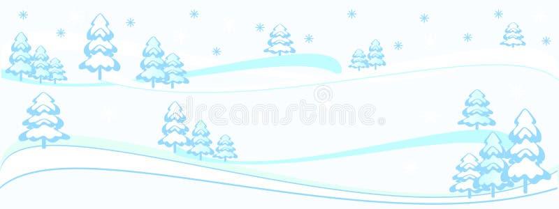 Beau fond d'hiver, modèles d'arbre d'hiver, Joyeux Noël, conception de Noël, nouvelle, 2019, bannière illustration libre de droits
