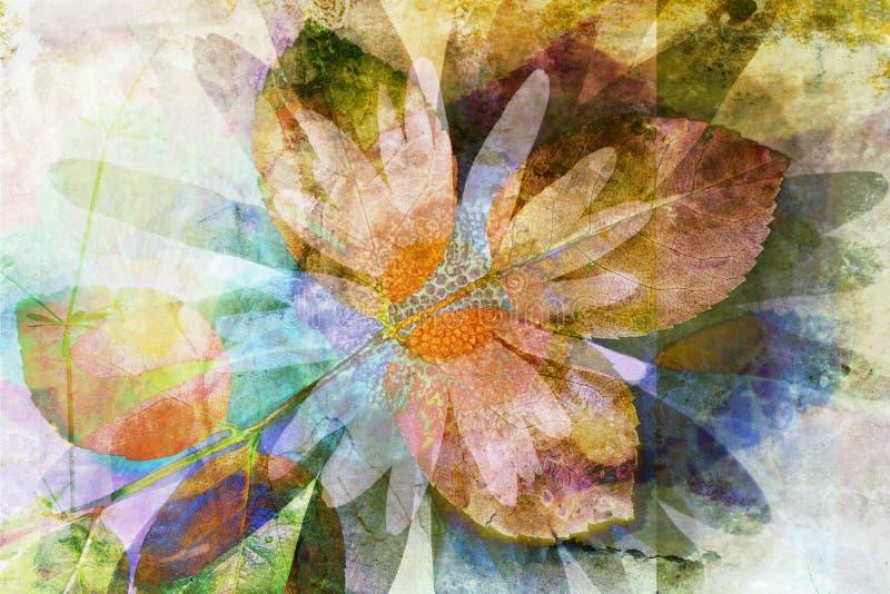Beau fond de conception florale illustration libre de droits