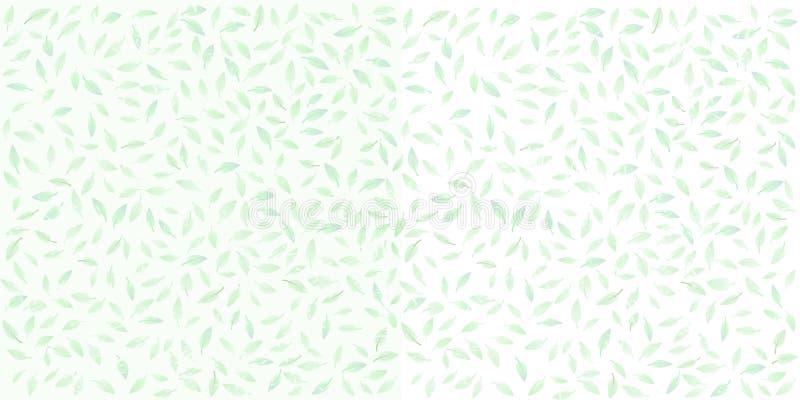 Beau fond de différentes feuilles sur un backgro texturisé illustration libre de droits