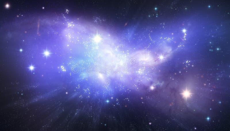 Beau fond de galaxie illustration stock