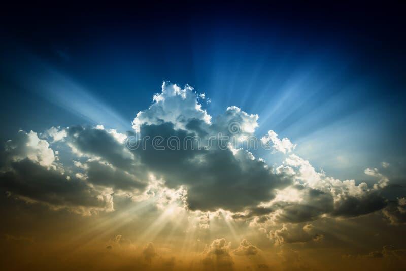 Beau fond de la SK de coucher du soleil photos libres de droits