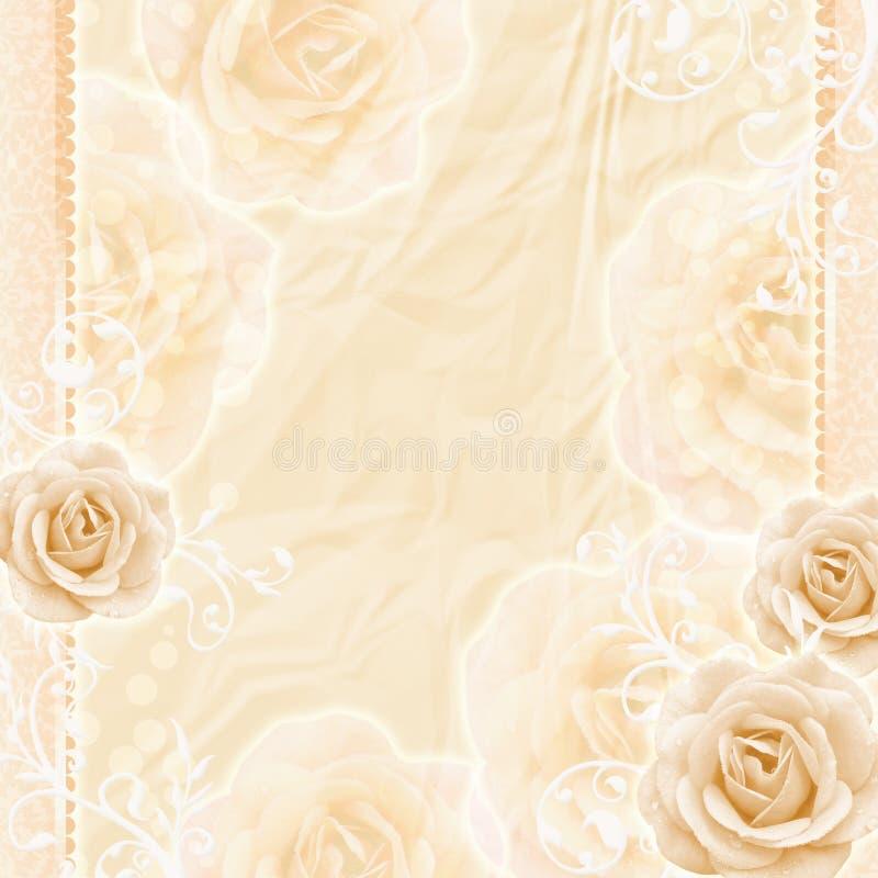Beau fond de roses image libre de droits