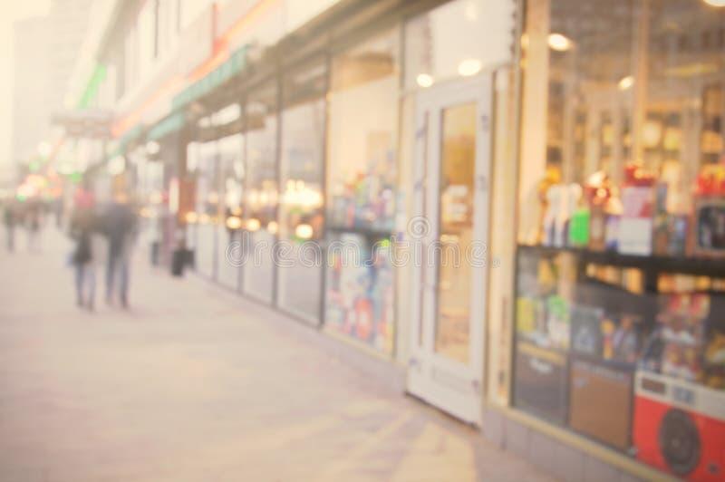 Beau fond de rue de ville photographie stock libre de droits