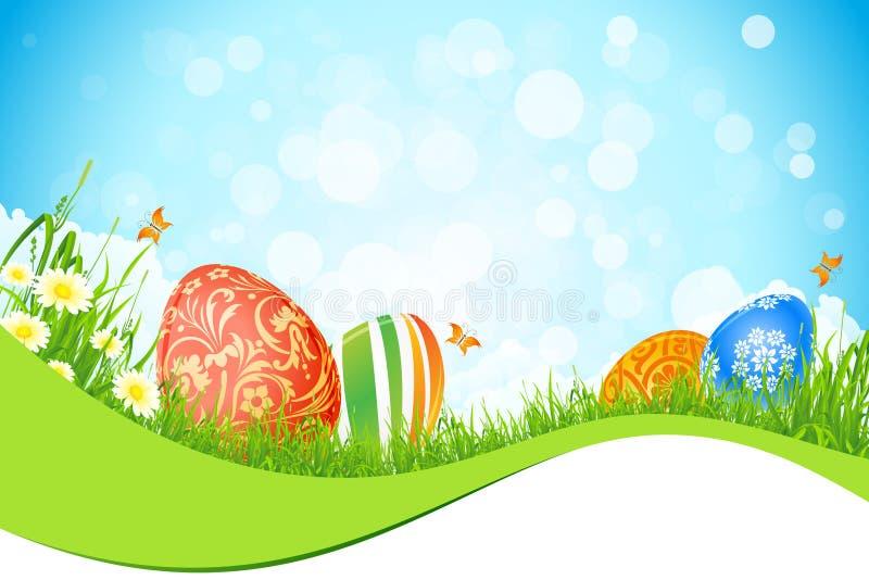 Beau fond de vacances de Pâques illustration stock