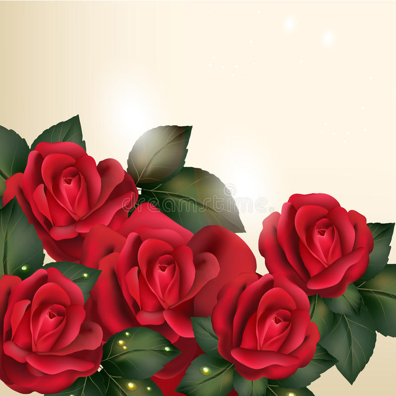 Beau fond de vecteur dans le style de vintage avec les fleurs roses illustration de vecteur
