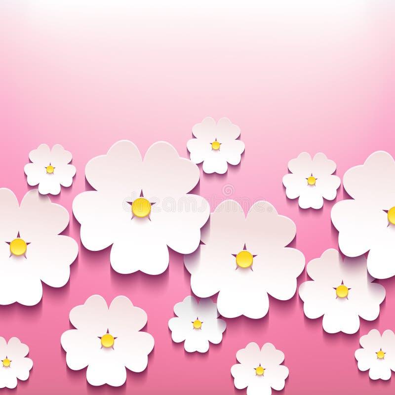 Beau fond floral élégant avec la fleur 3d illustration stock