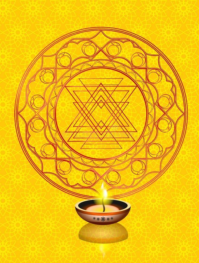 Beau fond heureux abstrait de Diwali illustration stock