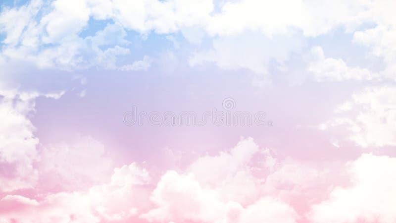 Beau fond mou de nuage brouillé par résumé avec un gradient multicolore en pastel avec le bokeh photo stock
