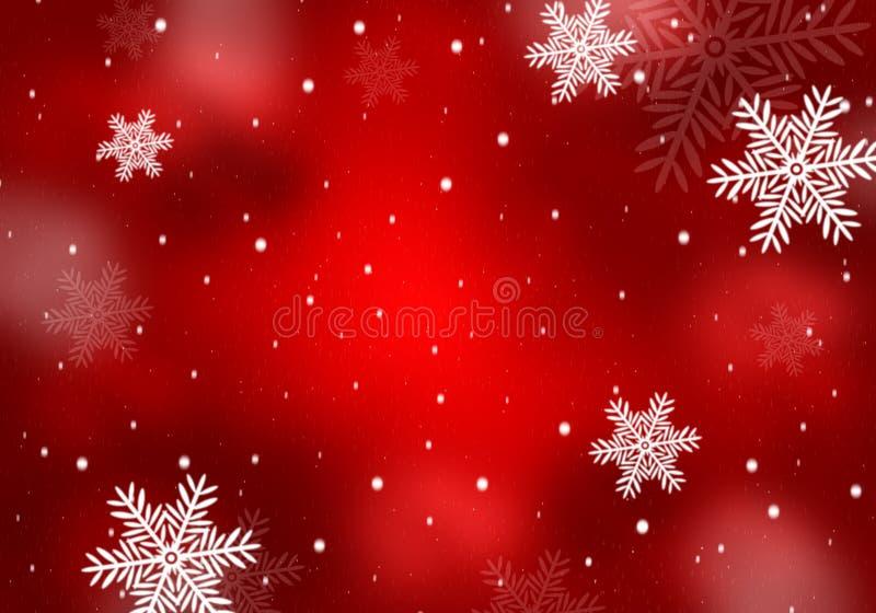 Beau fond rouge pour la saison de Noël et d'hiver illustration stock