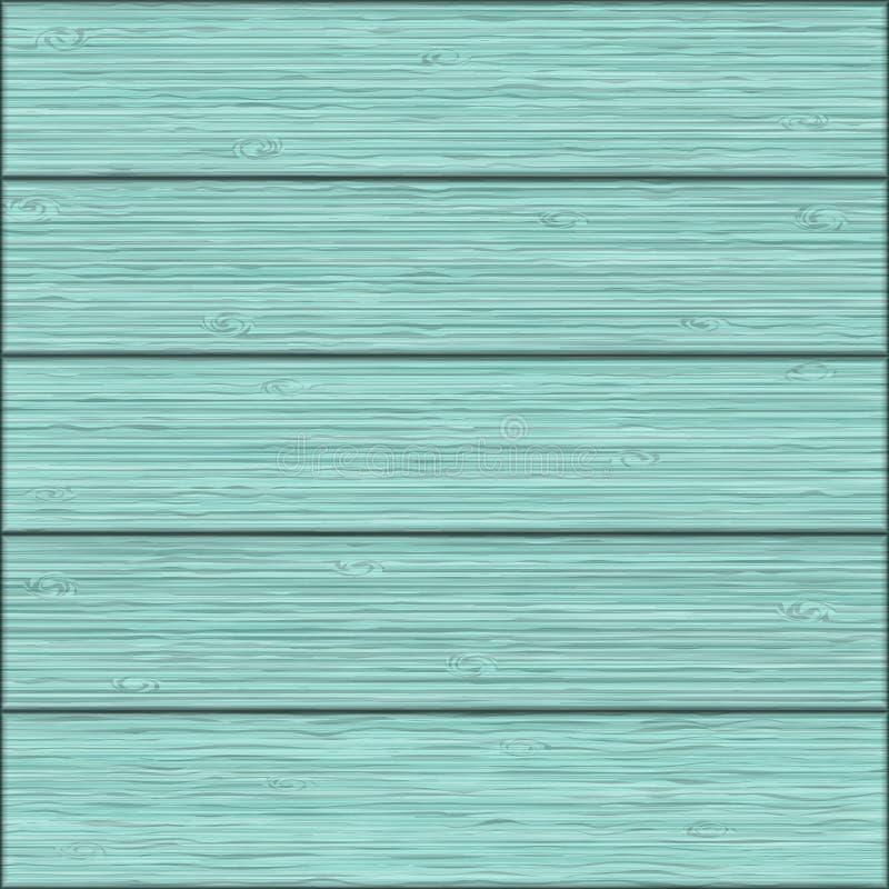 Beau fond sans joint Texture réaliste des conseils en bois bleus illustration stock
