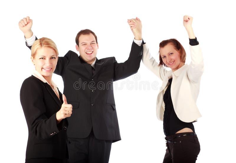 Beau gens d'affaires appréciant sa réussite photos stock