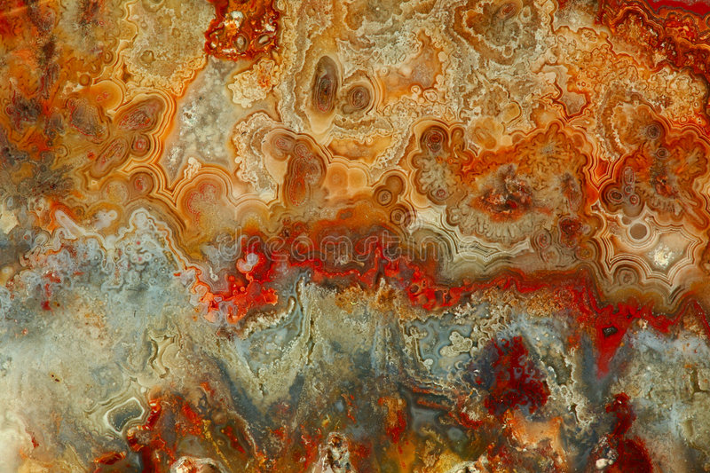 Beau Geode normal orange et blanc rouge Backg photographie stock