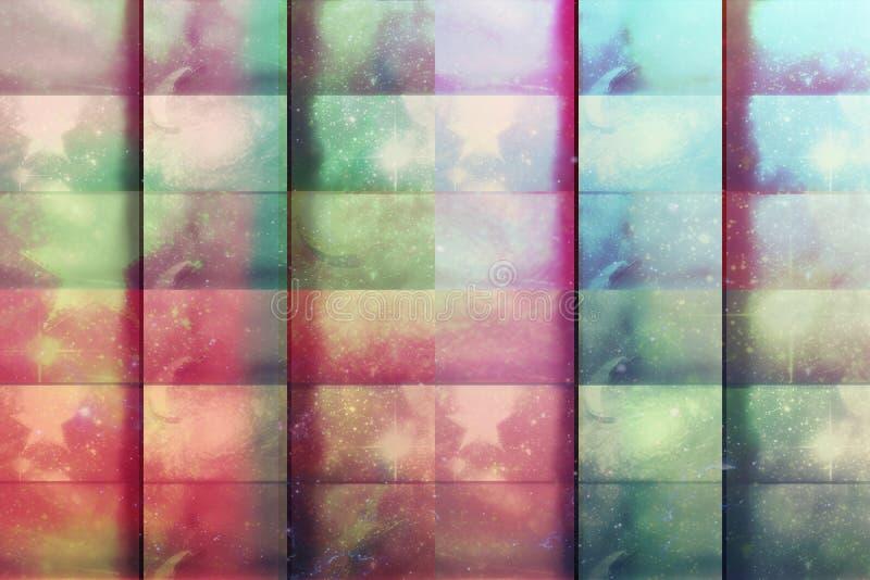 Beau grunge coloré à carreaux de fond photographie stock libre de droits
