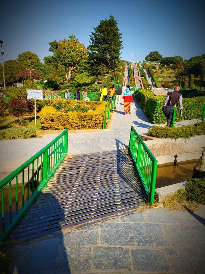 Beau jardin de Jammu image stock